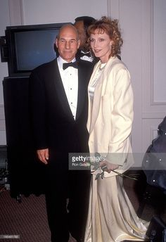 Actor Patrick Stewart and actress Gates McFadden attends Starlight Children's Foundation of Southern California's 'The Child In All of Us' 10th Annual Humanitarian Award Salute to Arsenio Hall and Fourth Annual Children's Friendship Award Salute to the Cast of 'Star Trek: The Next Generation' on March 13, 1993 at Century Plaza Hotel in Century City, California.