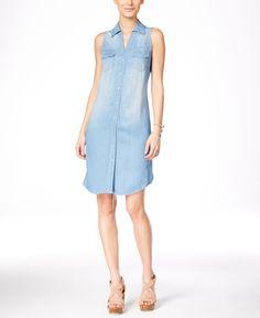 d719948be39f INC International Concepts Denim Shirtdress