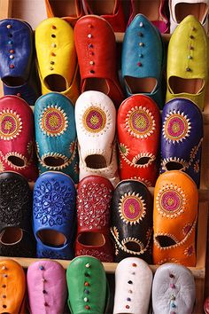 Moroccan babouches: love the colours!
