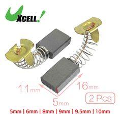 Dmiotech 2Pcs Electric Drill Motor Carbon Brushes Repair Part . | 10mm | 11mm | 17mm | 22mm | 5mm | 6mm | 8mm | 9.5mm | 9mm