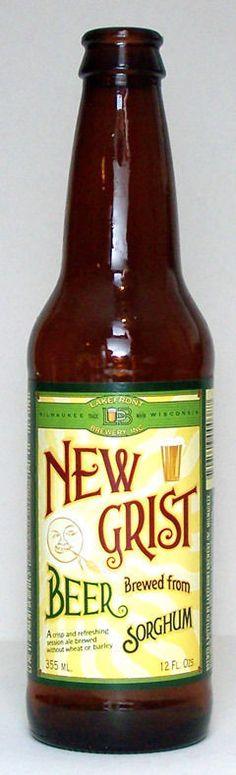 Lakefront New Grist Sorghum Beer - Specialty Grain. This is my mom's favorite gf beer. Breweries In Milwaukee, Gluten Free Beer, Free Friends, Beer Brewing, Beer Bottle, Grains, Diet, Toronto, Champagne