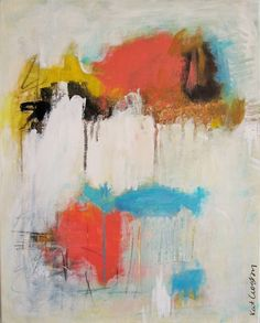 ARTFINDER: Take Me As I Am by Kat Crosby - Medium sized abstract done in the expressionist style with acrylic and mixed media on a gallery profile canvas.  Painting continues onto the sides of the can...