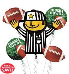 Football Balloon Bouquet 5pc