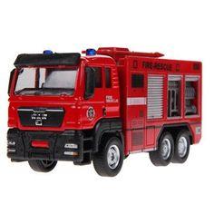 New Arrrival 1:55 Sliding Alloy Car Truck Model Children Toys Fire Engine, Children's Educational Toys