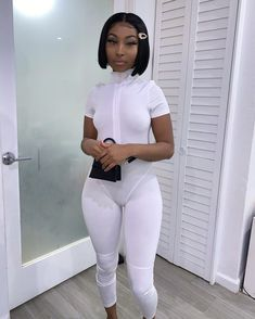 classy outfits plus size All White Outfit, White Outfits, Summer Outfits, Dope Outfits, Girl Outfits, Fashion Outfits, Fashion Tips, Black Girl Fashion, Beautiful Black Women