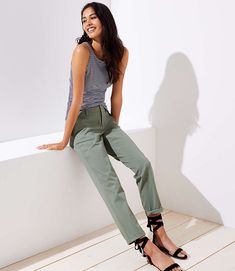 Shop LOFT for stylish women's clothing. You'll love our irresistible Tall Girlfriend Chinos - shop LOFT.com today!