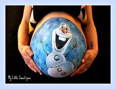 Pintando tripas o pancitas para inmortalizar el embarazo