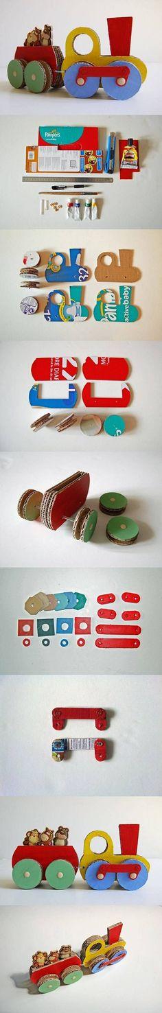 Evde Kartondan Kolay Oyuncak Tren Yapımı – Resimli Anlatım Evde kartondan oyuncak yapımı ile ilgili yeni bir çalışma paylaşacağım. Bu yazımda sizlere çok kolay yapımı olan güzel bir çalışma s…