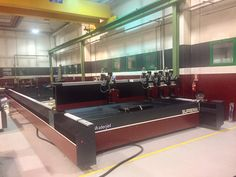 #WaterjetCorporation #Production area: the #biggest #Waterjet #Machine Ever! Model #Suprema DX 1340 - 4 #heads #90KPSI 12.200 x 4000 mm. Follow our #website NEWS area to be always updated