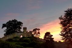 Sunset at Warwick Castle.
