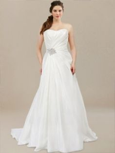 Strapless Plus Size Wedding Dresses PS002