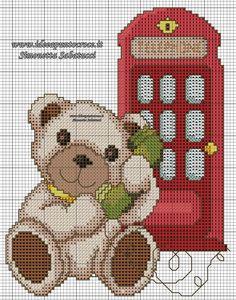 Cross Stitching, Cross Stitch Embroidery, Cross Stitch Patterns, Needlepoint Designs, Christmas Cross, Plastic Canvas Patterns, Crochet Baby, Needlework, Teddy Bear