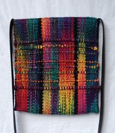 Hand Dyed Handwoven Purse in Silk Cotton Linen by sherrybingaman, $80.00