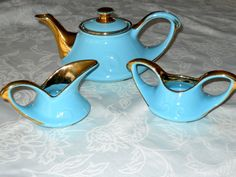 Vintage Teapot Sugar Creamer Set Pearl China by MyVintageNeighbor:):)
