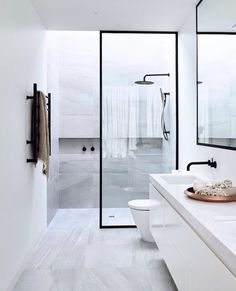 Small bathrooms may seem like a difficult design task to take on. Shower room is a fantastic way to save space in a small bathroom. Removing the bath and building a shower enclosure will give you plenty of room to move around,… Continue Reading → Bathroom Toilets, Bathroom Renos, Laundry In Bathroom, Bathroom Goals, Bathroom Remodeling, Paint Bathroom, Bathroom Black, Remodeling Ideas, Basement Bathroom