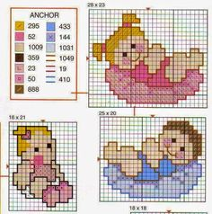 images attach d 1 133 966 Baby Cross Stitch Patterns, Cross Stitch Baby, Cross Stitch Designs, Cross Stitch Embroidery, Hand Embroidery, Broderie Simple, Baby L, Baby Cocoon, Doll Patterns