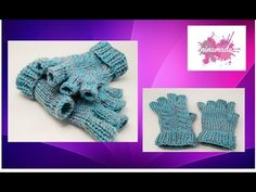 Como hacer mitones con dedos y dos agujas.Mittens with fingers and two needles Knitting Stiches, Knitting Videos, Loom Knitting, Fingerless Gloves Knitted, Crochet Gloves, Crochet Baby, Knit Crochet, Knitting Patterns, Beanies