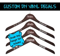 Custom Wedding Hanger Decal  Bridal Party by AnchoredSixCreations