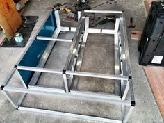DIY Hilux DC Drawer System - 2015 Welding Trailer, Trailer Build, Diy Drawers, Storage Drawers, Heavy Duty Drawer Slides, Ute Canopy, Ute Trays, Truck Bed Storage, Camping Box