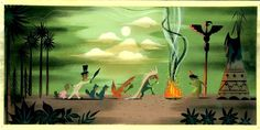 Mary Blair Concept Painting from Peter Pan