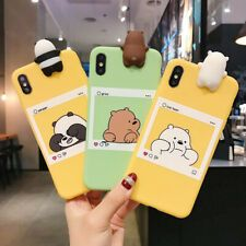 Cartoon Animals Cute We Bare Bears Soft Silicone Case Cover Skin For iPhone Cute Cases, Cute Phone Cases, Iphone Phone Cases, Case For Iphone, Phone Covers, Diy Phone Case Design, Telephone Iphone, Matching Phone Cases, Friends Phone Case