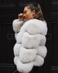 """3fa9dd47239 Furs By Natalia Ltd on Instagram  """"The design of this coat has angled  panels on the sleeves and on the body to create a beautiful chevron style  pattern ..."""