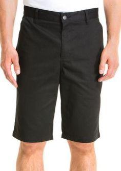 Lee Black Classic-Fit Flat-Front Shorts