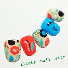 「 垂らしこみアート 」の画像 茨城県水戸市プライベートネイルサロン flicka Nail Arts Ameba (アメーバ)