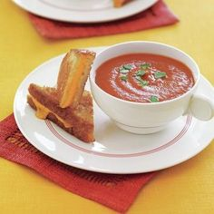 Roasted Tomato Soup recipe - simple, classic and delicious served with grilled cheese.