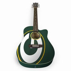 This product may experience shipping delays beyond promise date expressed at check out and email.Strum along with pride while you play this Green Bay Packers acoustic guitar.Limited edition custom body artworkSix-string design20 fret dreadnought cutawayWHAT'S INCLUDEDAcoustic guitarGuitar standGig bagGuitar: maple, spruce and bass woodBag: polyesterStand: metalImportedShop our full assortment of Green Bay Packers items here. When you're a fan, you're family! Size: One Size. Color…