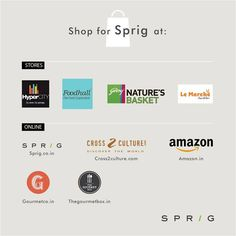 From the shelf, to your kitchen - discover a world ofgourmet ingredients, not too far from home. Shop for your favourite Sprig products online or at your favourite supermarket. To know more: https://www.sprig.co.in/ ‪#‎SprigGourmet‬ ‪#‎Stores‬ ‪#‎Onlineorder‬