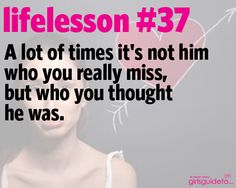 Little Life Lesson 37: Who You Really Miss