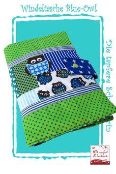Windeltasche *Blue-Owl* von Die tapfere Schneiderin, handmade with love ... by Viola auf DaWanda.com