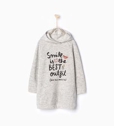 ZARA - KIDS - Hooded plush dress