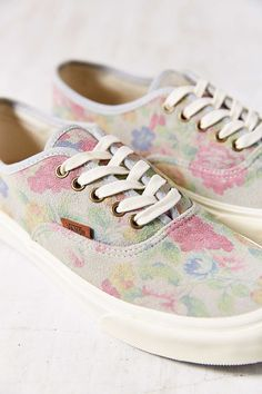 b9032b3167c Vans Authentic Slim Suede Floral Low-Top Womens Sneaker - Urban Outfitters  Shoe Sale