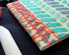 The Art of Bookbinding • Starry Japanese Stab Binding with handmade Lokta...