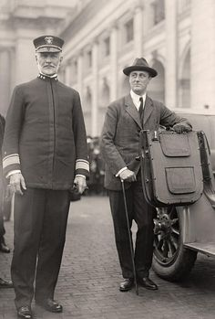 Franklin Delano Roosevelt with Admiral Sims