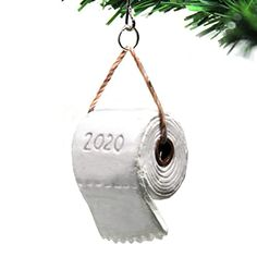 Funny Ornaments, Unique Christmas Ornaments, Modern Christmas Decor, Paper Ornaments, Hallmark Ornaments, Hanging Ornaments, Christmas Gifts, Homemade Christmas, Toilet Paper Trees