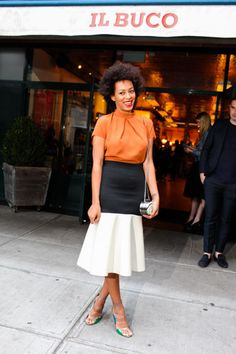 Solange Knowles at the ACNE New York Flagship Store Opening Dinner