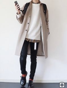 2019 Casual Fashion Trends For Women - Fashion Trends Korean Fashion Men, Urban Fashion, Fashion Women, Fashion Edgy, Mode Outfits, Casual Outfits, Casual Wear, Fall Outfits, Mode Kawaii