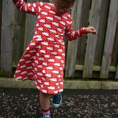 Little Girls' Skater Dress sewing pattern -18m/2T, 3T/4T, 5Y/6Y, 7Y/8Y - PDF | Kitschy Coo
