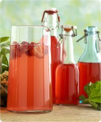 Rhubarb drink, nice for summer picnics & parties. In Finnish.