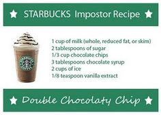 Double Chocolate Chip. definitely need to try that one! no more spending $ 5 on a drink!