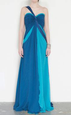 Carlos Miele Turquoise And Blue Dress | VAUNTE