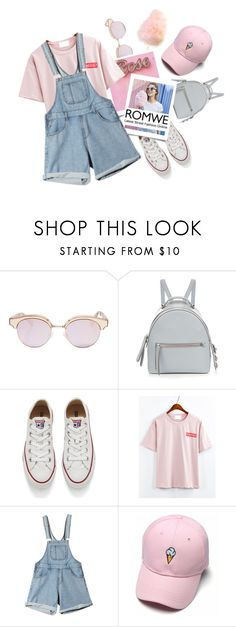 """""""Romwe"""" by vxstitus ❤ liked on Polyvore featuring Le Specs, Fendi and Converse"""