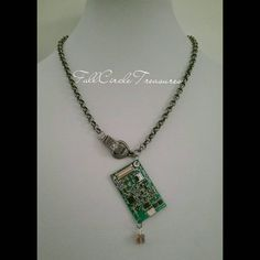 Memory Card Necklace  Computer Necklace  by FullCircleTreasures