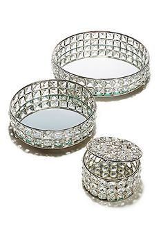 Just beautiful, embellished tabletop trays