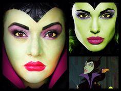 Maleficent Halloween Makeup - Evil Queen in Disney's Sleeping Beauty #halloween #disney #makeup