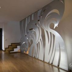 Decorative wall steel cut, designer Ioana Andrei