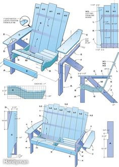 Woodworking How To - Free Adirondack Chair Plans! Learn to DIY Adirondack Chairs, those fabulous Cap Cod chairs on which to sunbake all afternoon.